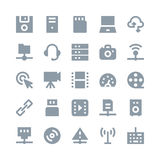 Network Technology Vector Icons 2. You can use this Network Technology Vector Icons set to manage a lot of information, around the world and interact with other Royalty Free Stock Photos