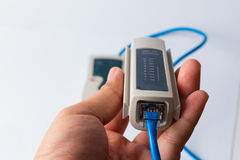 Network tester on white Stock Photography