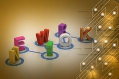Network text Stock Photos