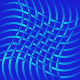 Network textile twist. Blue lines isolated on a red background. The minimalist style vector illustration