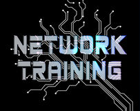 Network Training Represents Global Communications And Computer. Network Training Meaning Global Communications And Lan Stock Image