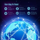 Network travel background Royalty Free Stock Photography