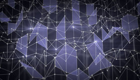 Network of triangles Royalty Free Stock Photography