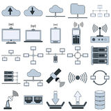Network vector icons Royalty Free Stock Photography