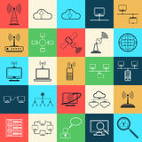 Network web vector icons Stock Photography