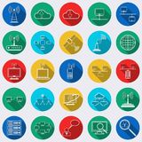 Network web vector icons Stock Images