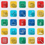 Network web vector icons Royalty Free Stock Photos