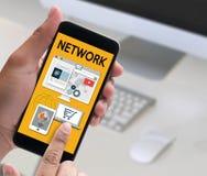 NETWORK Website Design UI Software Media WWW  international comm Royalty Free Stock Photos