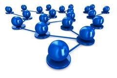 Network on white background Stock Photo