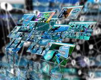 Network window Royalty Free Stock Images