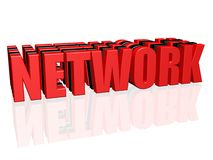 NETWORK word Royalty Free Stock Image