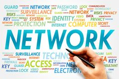 NETWORK. Word cloud, business concept Royalty Free Stock Image