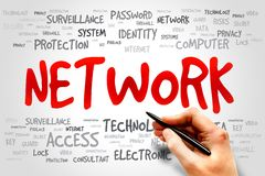 Network. Word cloud, business concept Stock Photography