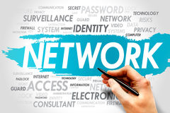 Network. Word cloud, business concept Royalty Free Stock Images