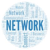 Network word cloud. Word cloud made with text only vector illustration