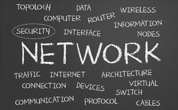 Network word cloud Royalty Free Stock Images