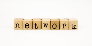 Network wording isolate on white background Royalty Free Stock Photos