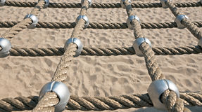 Networked Ropes. On climbing frame Royalty Free Stock Image