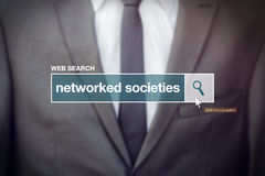 Networked societies web search bar glossary term. On internet Stock Photography