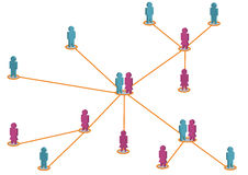 Networking. Illustration of social network scheme Royalty Free Stock Photos