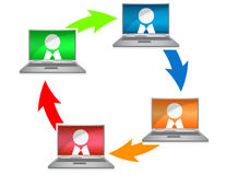 Networking. Colorful illustration over a white background Royalty Free Stock Photos