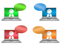 Networking. Colorful illustration over a white background Royalty Free Stock Photo