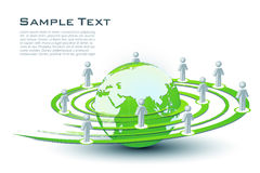 Networking. Illustration of networking with globe on white background Stock Photography