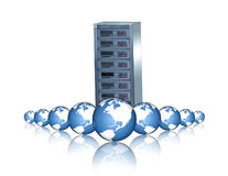 Networking. Server,global web hosting Stock Photography