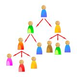 Networking 2. An illustration of networking people Royalty Free Stock Photo