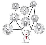 networking ilustração do vetor