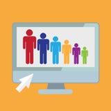 networking ilustração stock
