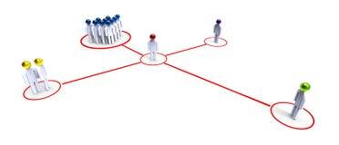 networking Imagem de Stock