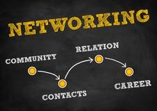 networking ilustração royalty free