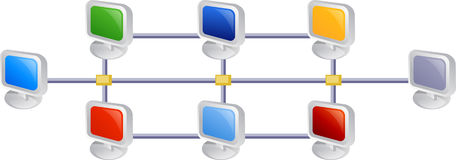 Networking. Illustration of Computer network Stock Images