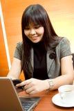 networking azjatykcia biznesowa kobieta Obrazy Stock