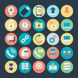 Networking Barwione Wektorowe ikony 2 Zdjęcia Royalty Free