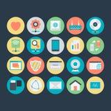 Networking Barwione Wektorowe ikony 5 Obrazy Stock