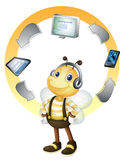 Networking bee Royalty Free Stock Photos