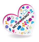 Networking business heart logo Royalty Free Stock Photo