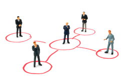 Networking business people Stock Images