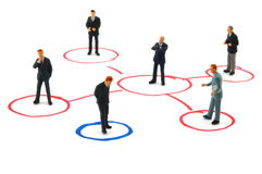 Networking business people Stock Photos