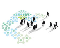 Networking business people Royalty Free Stock Photos