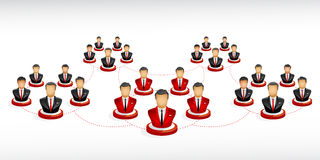 Networking from businessman. Vector illustration of a some businessmen who make link for there networking Royalty Free Stock Photos