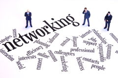 Networking businessmen Stock Images