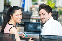 Networking at a cafe Stock Images