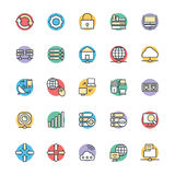 Networking Chłodno Wektorowe ikony 2 Fotografia Stock
