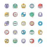 Networking Chłodno Wektorowe ikony 1 ilustracji