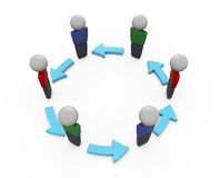 Networking. Circle of folks networking together Royalty Free Stock Images