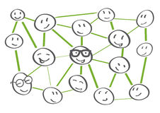 Networking collaboration illustration Stock Photo
