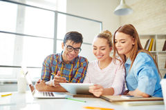 Networking in college Royalty Free Stock Image
